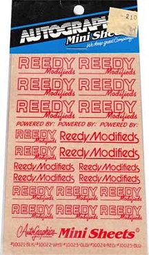 10024 Reedy Red Decals