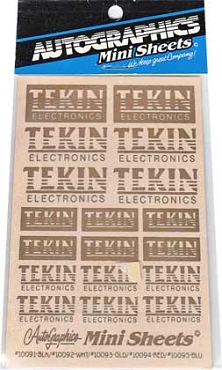 10093 Tekin Gold Decals