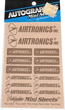 10113 Airtronics Gold Decals