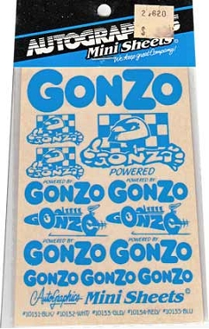 10135 Gonzo Blue Decals