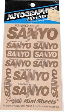 10153 Sanyo Gold Decals