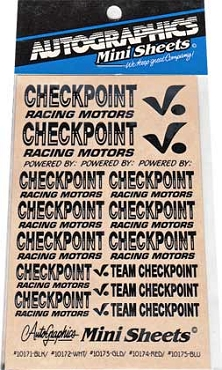 10171 Checkpoint Black Decals