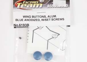 6193B  Wing Buttons Alum Blue
