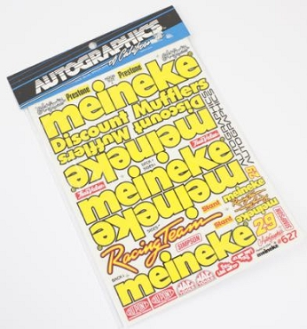 627 Meineke Stickers