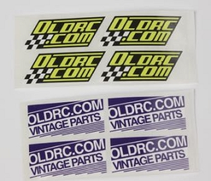 b8401 OLDRC Stickers Retro only