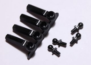 a6001 Ball Studs w\Ends 4-40 x 3\16 (Black)