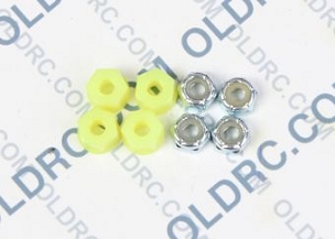 a6303 10-32 Locking Nuts Fluorescent Yellow