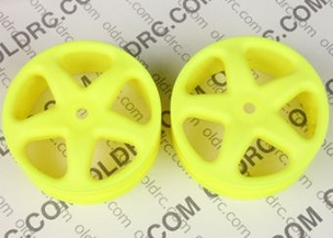 a7045 4WD XX4 Front 5 Spoke Wheels YELLOW