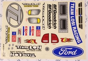 A8343 XX4 Heavy Metal Truck Sticker Sheet