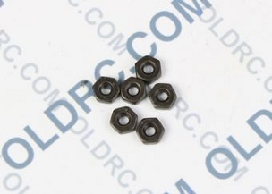 a6300 Black Stainless Steel 4-40 Hex Nut (6)